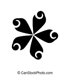 Beautiful flower symbol