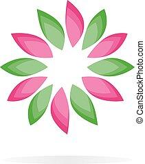 Beautiful flower vector logo