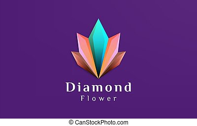 Beautiful flower with a shape like a diamond