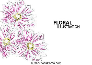 Beautiful flowers - Beautiful floral vector illustration on...
