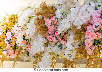 Beautiful flowers for valentines and wedding scene .