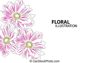 Beautiful flowers - Beautiful floral vector illustration on...