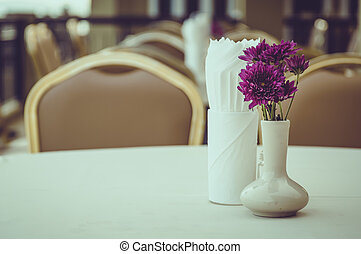 Beautiful flowers in vase on the table
