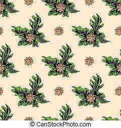 beautiful flowers on a light background seamless pattern