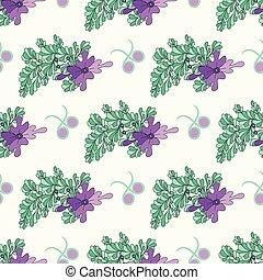 beautiful flowers on white background seamless pattern