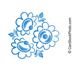 Beautiful flowers pattern isolated on white background