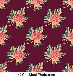 beautiful flowers seamless vector pattern for your design