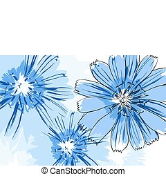 Beautiful flowers - Beautiful vector flowers on white...