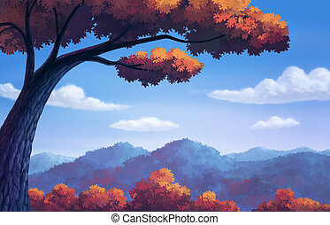 Beautiful for autumn color change - illustration beautiful...