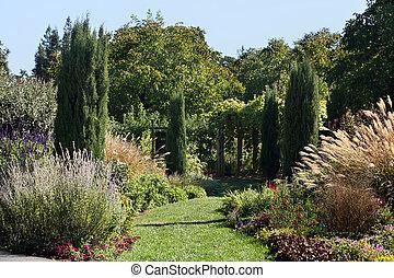Beautiful formal garden