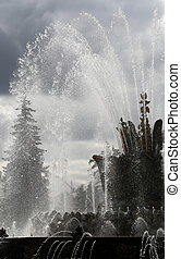 beautiful fountain in Moscow