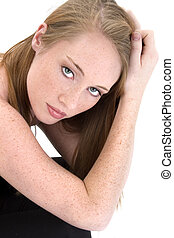 Beautiful Fourteen Year Old Girl in Black