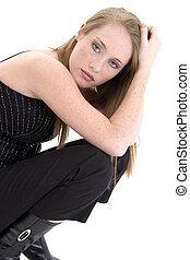 Beautiful Fourteen Year Old Girl in Black