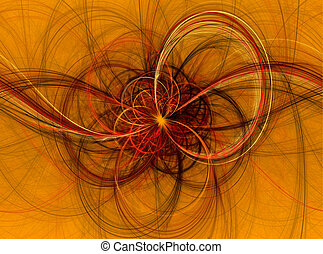 Beautiful fractal abstract line illustration,