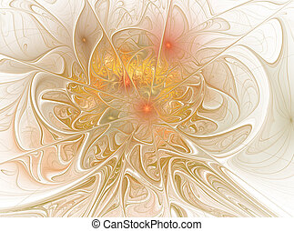 Beautiful fractal floral art