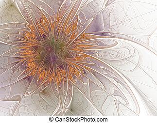 Beautiful fractal floral art