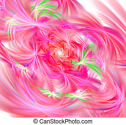 Beautiful fractal flower. Computer generated graphics. Abstract floral fractal background for art projects