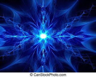 ice-flower - beautiful fractal ice-flower on a dark ...