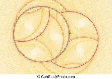 Fractal circle fantasy pattern
