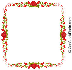 Beautiful frame from roses
