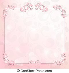 beautiful frame on a pink background