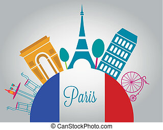 beautiful france - a colorful france flag in the planet with...
