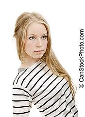 Beautiful fresh blond girl