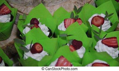 Beautiful fresh wedding cake with cakes. - Beautiful fresh ...