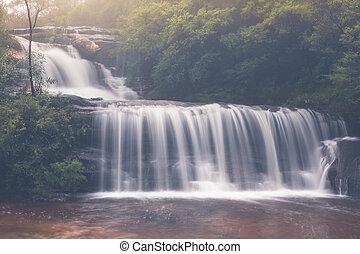 Beautiful full flowing waterfalls after rain