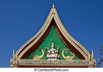 Beautiful gable - beautiful and ornate gable of a temple in...