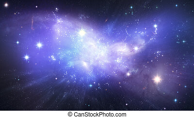Beautiful galaxy background