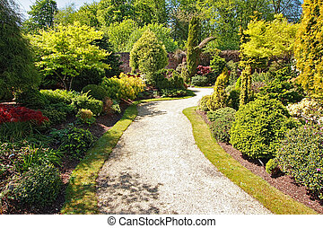 Beautiful garden in Spring time