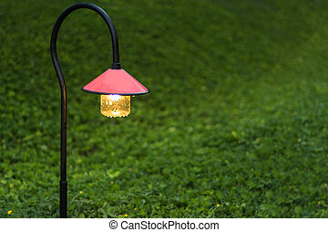 walkway lighting - Beautiful garden walkway lighting with...