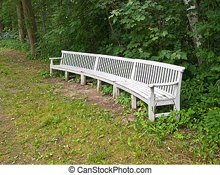 Beautiful classical design park garden wood bench seating corner