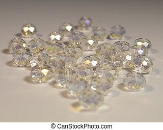 Beautiful gems on light background
