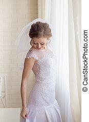 Beautiful gentle bride wedding