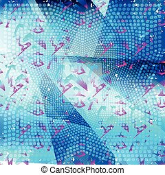 beautiful geometric pattern on a blue background