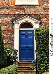 Beautiful Georgian house doorway in the UK - The front door...