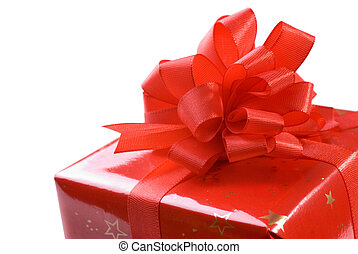 Beautiful gift box isolated on the white background