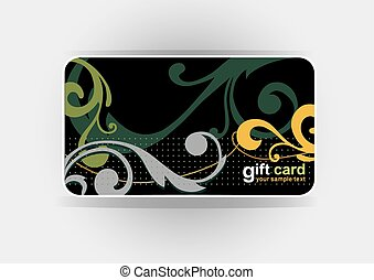 Beautiful gift card, vector ill.eps
