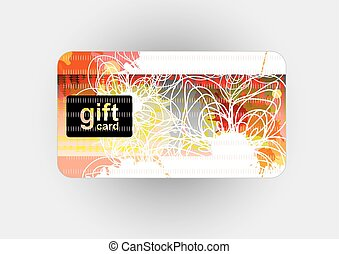 Beautiful gift card, vector illustr