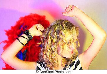 Beautiful girl and carnival