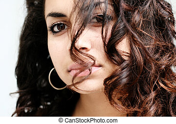 Beautiful girl - Beautiful middle eastern girl close-up