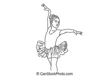 Beautiful Girl Dancing vector, Illustration