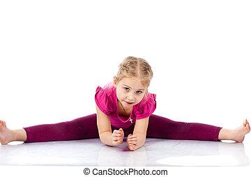 Beautiful girl exercising