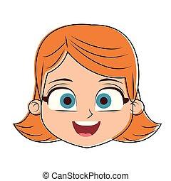 A Beautiful Cartoon Girl Face Beautiful cute ...
