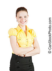 girl in business outfit - Beautiful girl in business outfit...