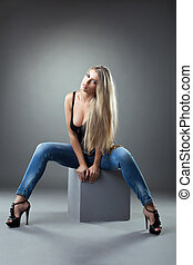 Beautiful girl in jeans