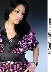 Beautiful Girl in Kimono