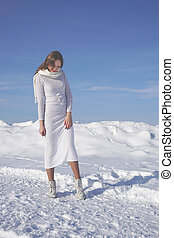 girl in the winter